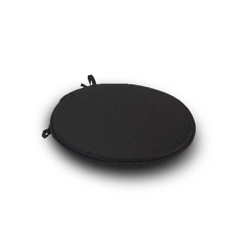 1Black Round Seat Pad Cushion With Ties