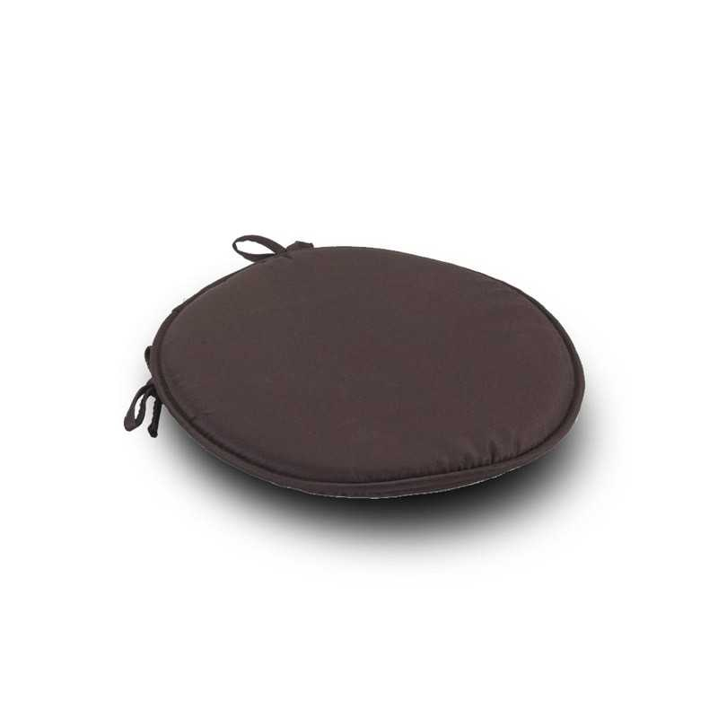 Brown Round Seat Pad Cushi1on With Ties Pack Of 2