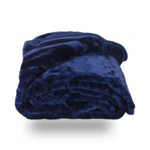 Faux Fur Blue Mink Throw Soft Warm Blanket