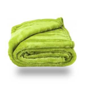 Faux Fur Green Mink Throw Soft Warm Blanket