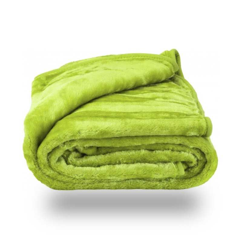 Faux Fur Green Mink Throw Soft Warm Blanket