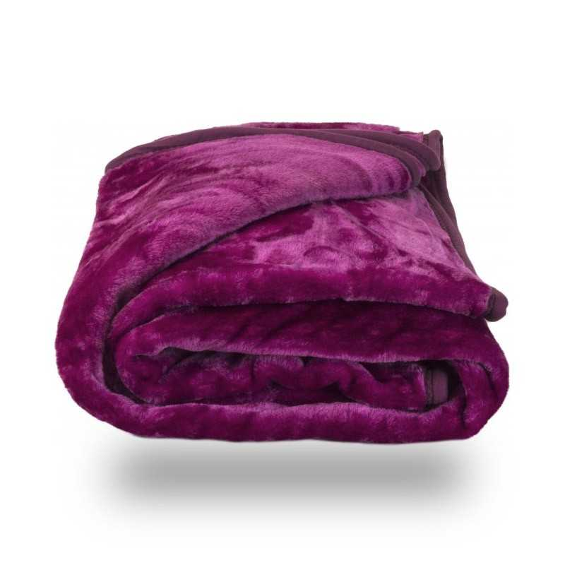 Faux Fur Purple Mink Throw Soft Warm Blanket