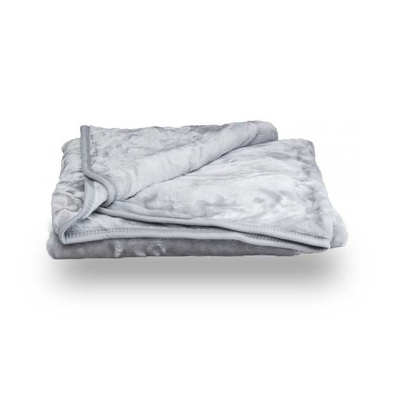 Faux Fur Silver Mink Throw Soft Warm Blanket