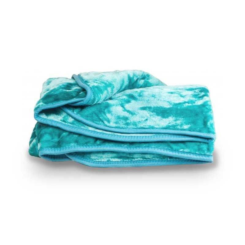 Faux Fur Teal Mink Throw Soft Warm Blanket