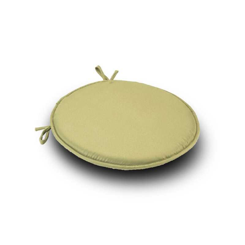 Green Round Seat Pad Cushion1 With Ties Pack Of 2