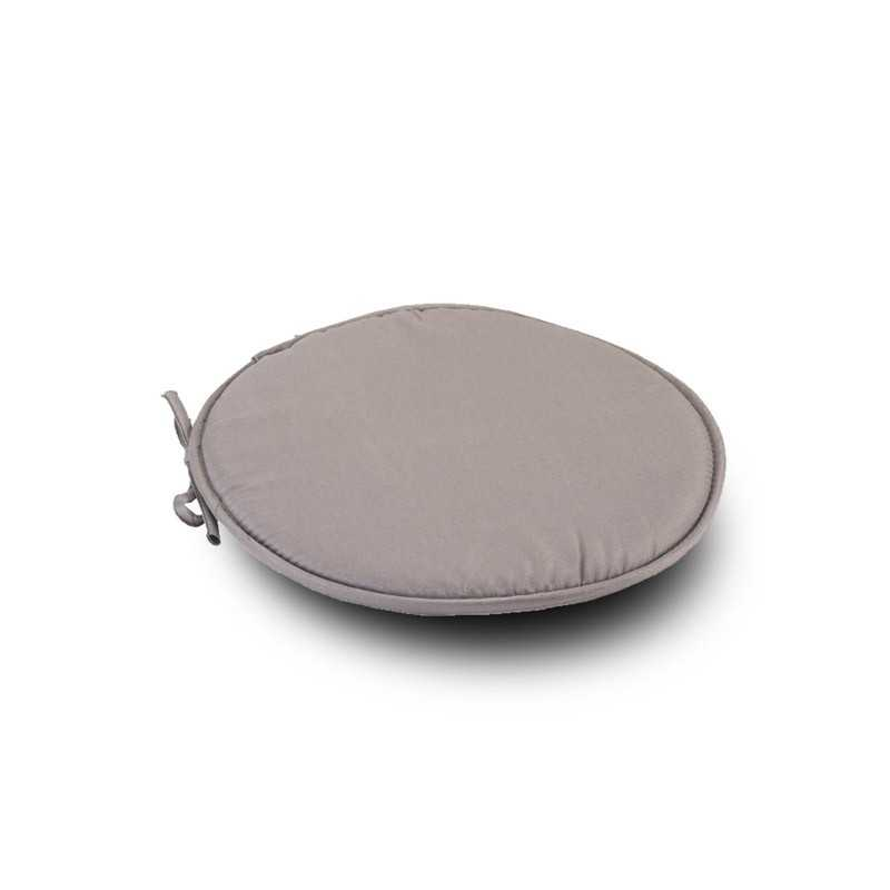 Grey Round1 Seat Pad Cushion With Ties Pack Of 2