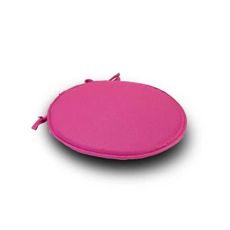 Pink Round Se1at Pad Cushion With Ties Pack Of 2