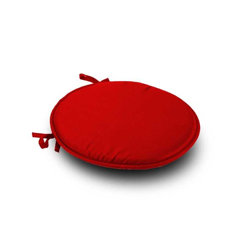 Red Round Seat Pad Cushi1on With Ties Pack Of 2