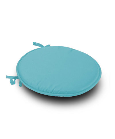Teal Round S1eat Pad Cushion With Ties Pack Of 2