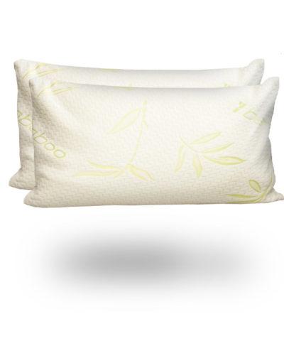 Bamboo Organic Memory Foam Pillow pair snugcitycouk