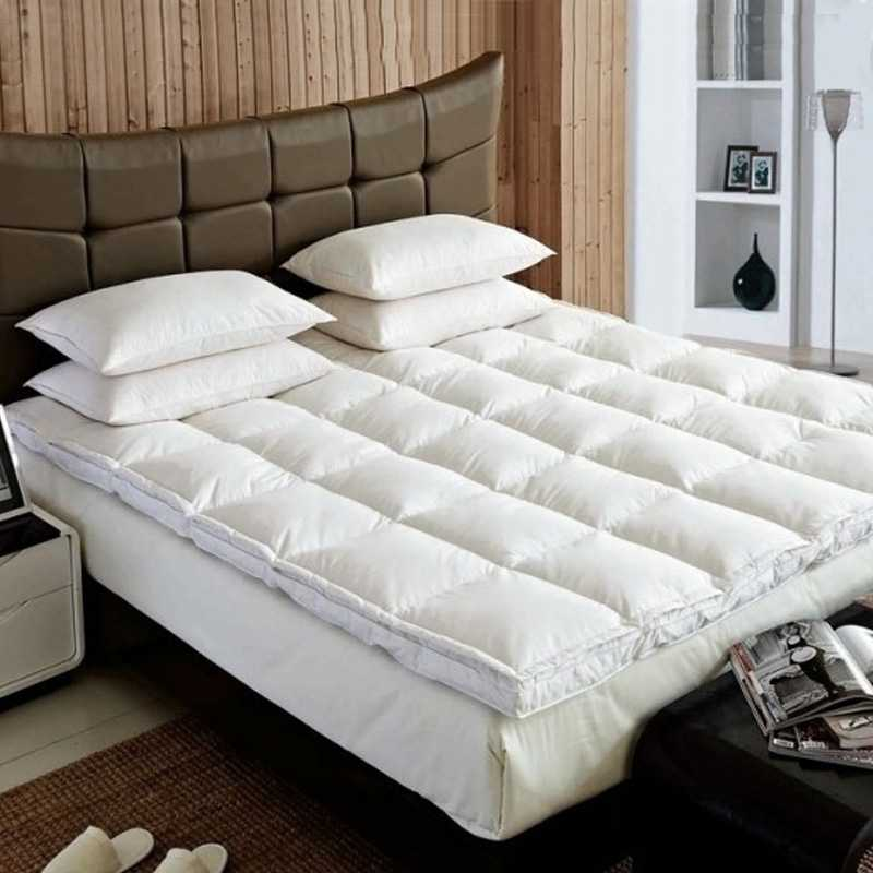 Goose Feather And Down Luxury Mattress Enhancer Bed Topper