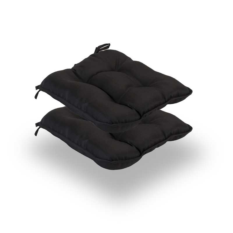 Snug Black Quilted Seat Pads Normal Pack
