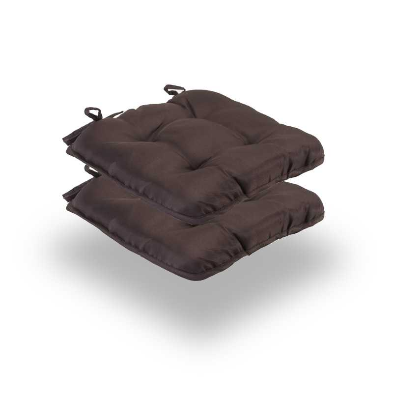 Snug Brown Quilted Seat Pads Normal Pack