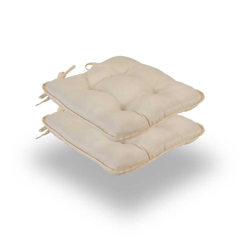Snug Cream Quilted Seat Pads Normal Pack