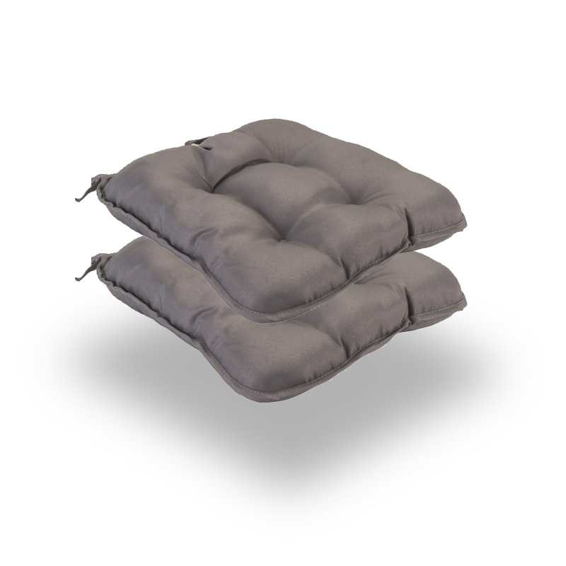 Snug Gray Quilted Seat Pads Normal Pack