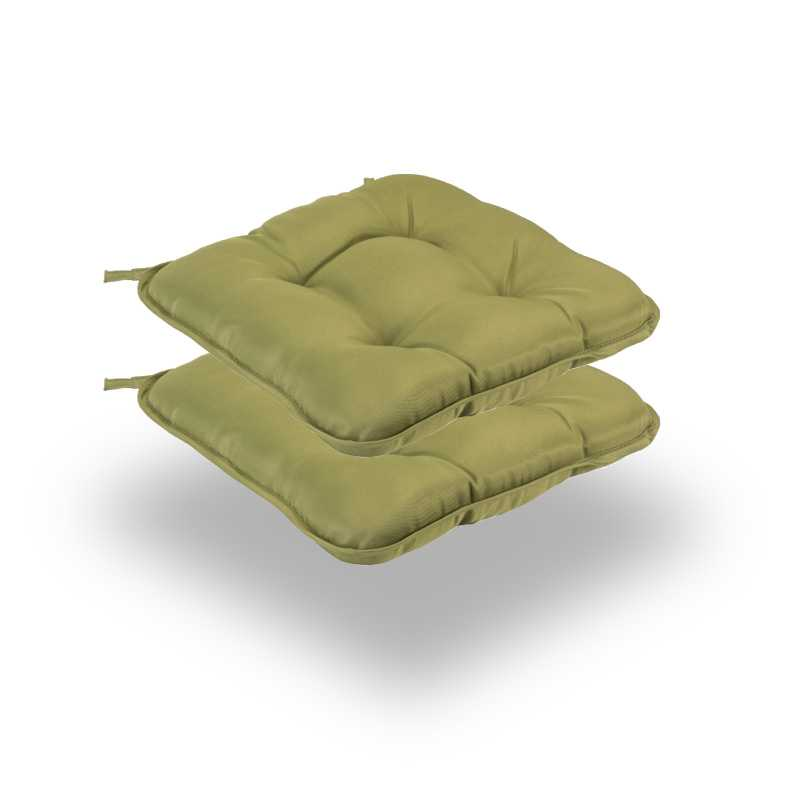 Snug Green Quilted Seat Pads Normal Pack