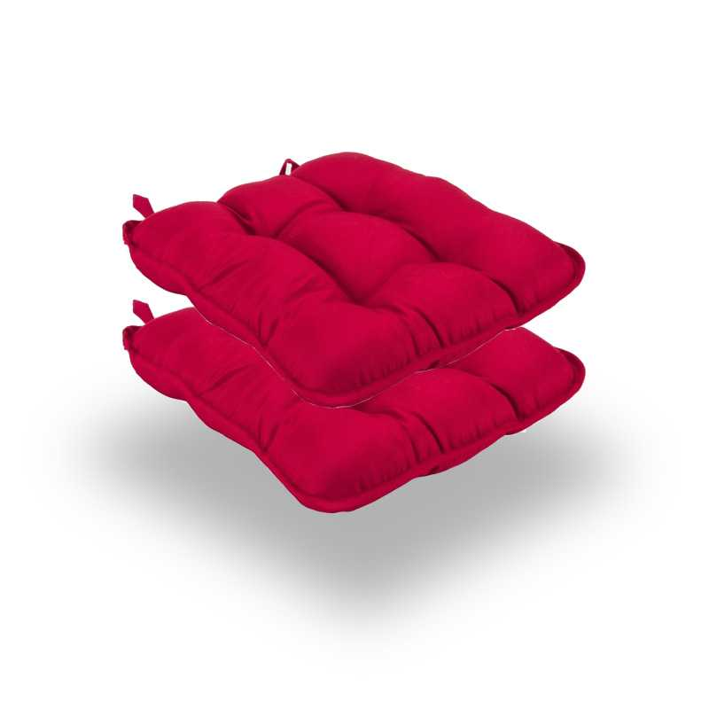 Snug RED Quilted Seat Pads Normal Pack