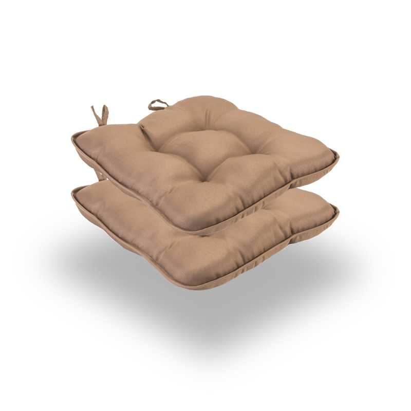 Snug Tan Quilted Seat Pads Normal Pack